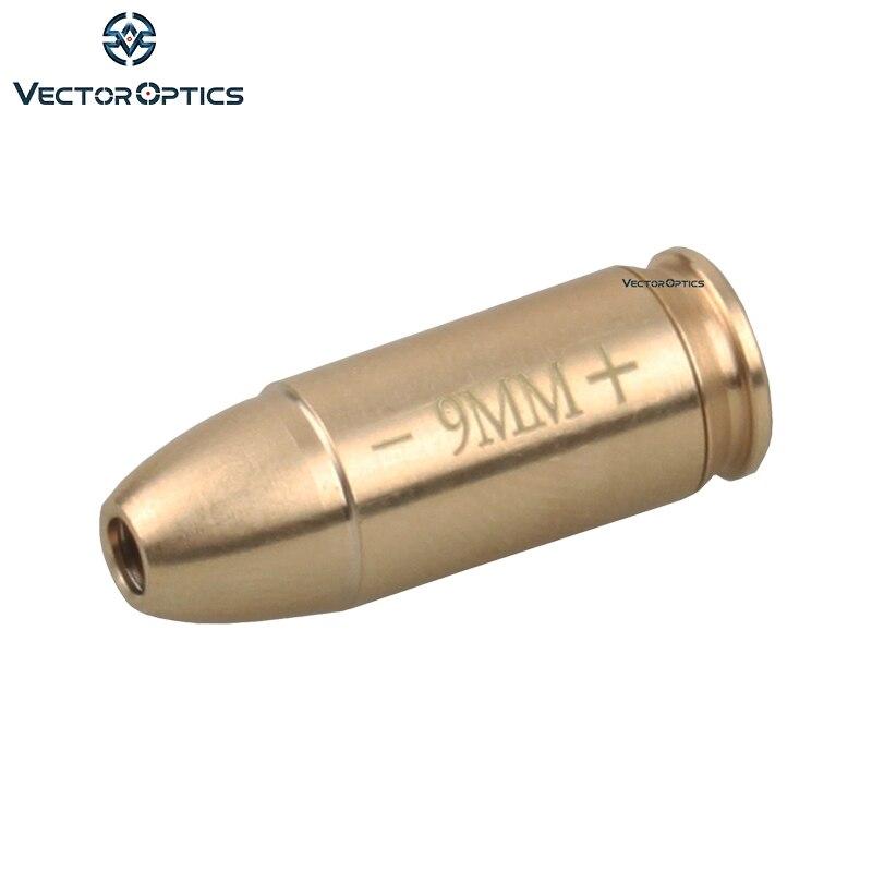 Optique vectorielle 9mm cartouche Laser rouge alésage boresiserrée collimateur laiton fit 9x19mm pistolet fusils
