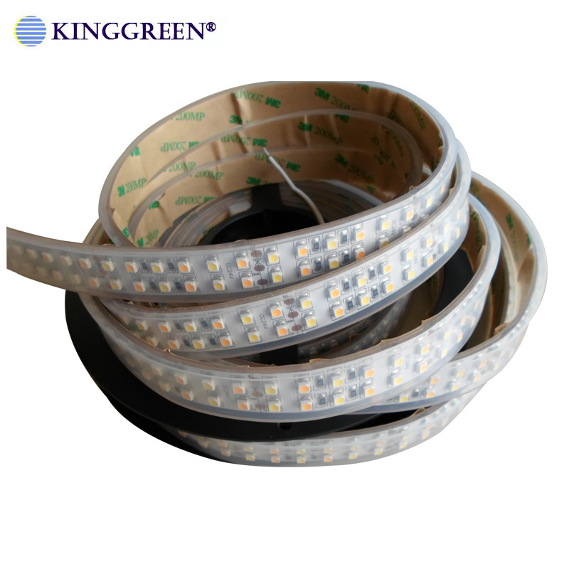 High CRI>90 3528 Flexible Color Dimmable LED Strip Light DC24V 60 ,120, 240LED/m 3000K & 6000K CCT Adjustable Free Shipping