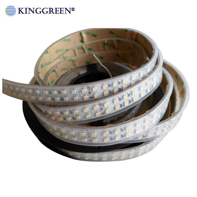 High CRI>90 3528 tira de luces LED regulable de color flexible DC24V 60 ,120, 240LED/m 3000K & 6000K CCT ajustable libre de envío
