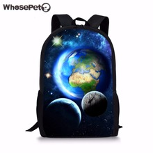 WHOSEPET Planet Schoolbag Fashion for Student Book Bags New Style Printing Backpacks Cool Galaxy Rucksack Boys Enfant Mochila