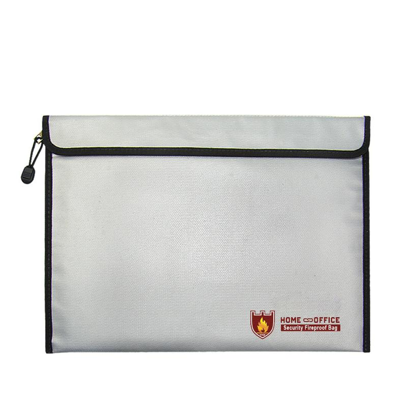 iShine Fireproof Document Bag Fire Resistant File Pouch Zippered Safe Storage Bag for Documents Money Passport