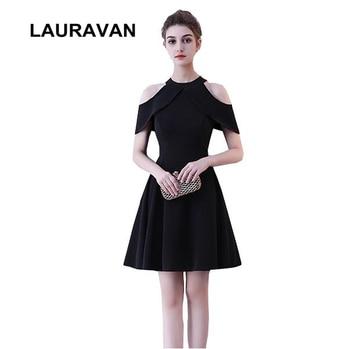 Chicas con vestido negro corto