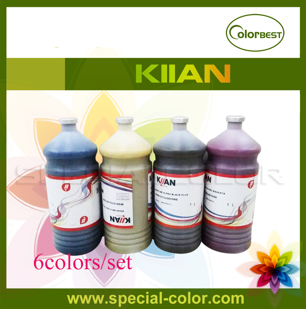6colors/lot Italy Kiian Hi-Pro Sublimation Ink Bulk Ink 1000ml for Roland/Mimaki/Mutoh Transfer Ink like hi 6