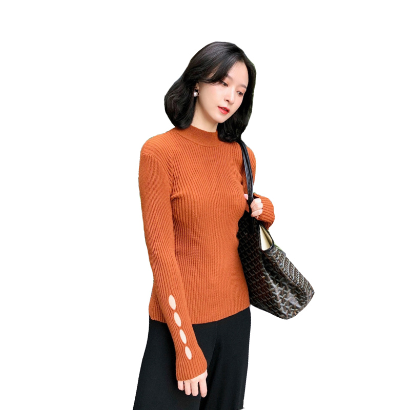 Pengpious 2018 solid color postpartum women lactation sweater hollow out long sleeve breastfeeding knitted pullovers turtlencek