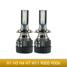 LED H1 H3 H7 H4  H11 H8 9005 9006 9012 Car Headlight Bulbs 8000Lm 6500K 50W 12V LED Automobile Headlamp Fog Lamps Car Styling цена и фото