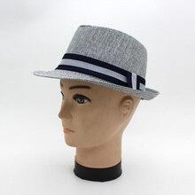 Новая соломенная ковбойская шляпа, летняя мужская джазовая пляжная шляпа, шляпа от солнца для путешествий, для джентльменов в английском стиле