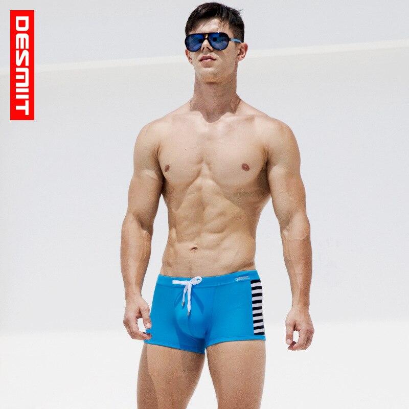 f7bceaf633d95 2018 DESMIIT Men striped swimming trunks bermudas swim shorts sexy sweat nylon  swimwear plavky swimsuits men zwembroek heren