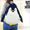 Funny Penguin Design Animal Rucksack Japan Canvas Backpacks Kawaii Mujer Mochila Cartoon Travel Backpack for Teenage Girl Q063
