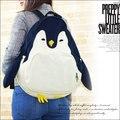 Pingüino divertido Diseño Animal Mochila Japón Kawaii Mochilas de Lona Mujer Mochila de Dibujos Animados Mochila de Viaje para Adolescente Q063