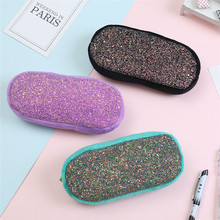 TTLIFE Students Portable Handheld Pencil Bags Women Sequins Makeup Cosmetic Bag Pouch Children Coin Purse Travel Toy Storage