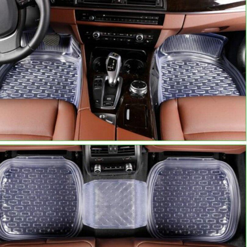 Universel 64*47 cm voiture tapis de sol voiture tapis voiture tapis 5 pièces/ensemble Transparent livraison gratuite