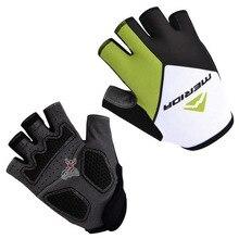 2015 half finger gloves breathable green pro bike gloves team merida cycling gloves sports