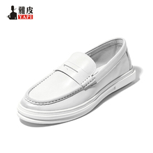 Mens Genuine Leather Classical Boat Shoes England Style Casual SLIP-ON Penny Loafer Driving Car Designer