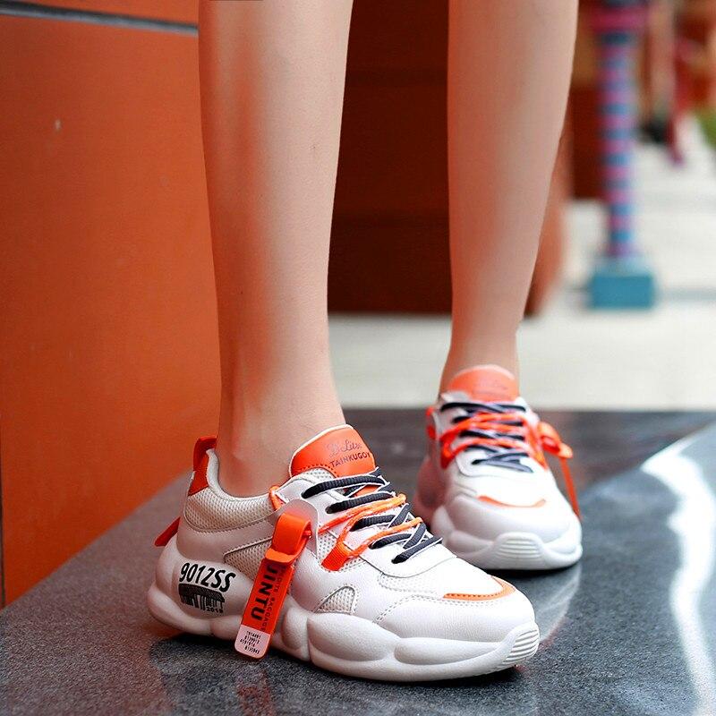 Marca mulher vulcanize sapatos almofada de ar tênis lona sapatos senhoras deslizamento em respirável rasa casual mocassins chaussure femm