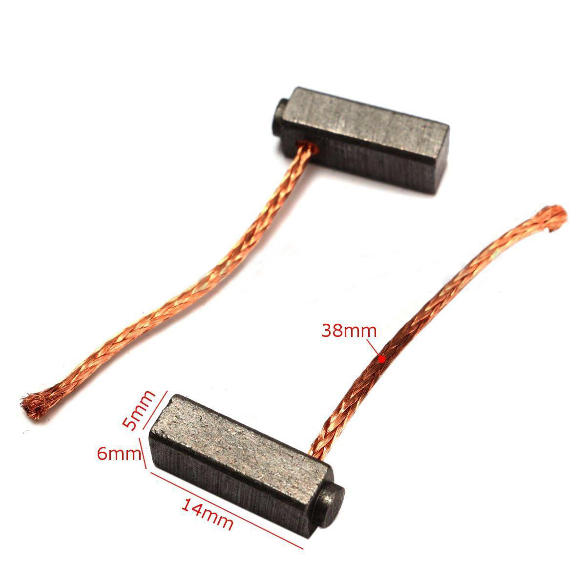 10pcs/lot Carbon Motor Brushes Replacement Brush Set For Generic Electric Motor Commutator 5x6x14mm