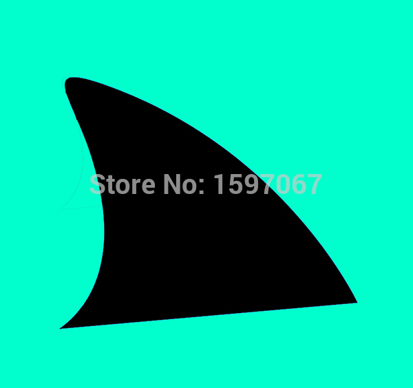 Shark Fin Sharks Graphic Vinyl Decal For Car Window Truck SUV Bumper Door Kayak Sticker 8 Colors