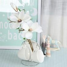 3 шт. 36 см Мини Свадебные украшения Шелковые цветы Орхидея Магнолия для свадьбы искусственные цветы для украшения дома