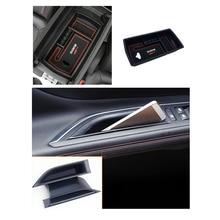 for Peugeot 5008 / 5008 GT / Allure 2017 2018 Accessories Interior Central & Front  Car Door Storage organizer Box Holder 3pcs