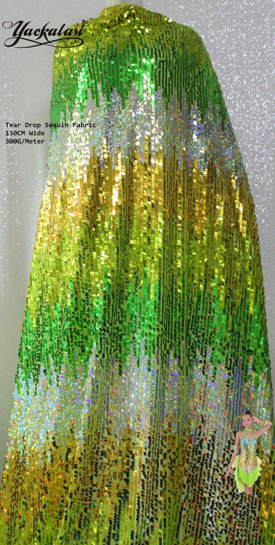 Sparkly Sequined Lace Fabric Διάφορα Χρώματα Stripe - Τέχνες, βιοτεχνίες και ράψιμο - Φωτογραφία 4