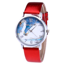 Simple 2018 New Clay Cute 3d Mini World Swan Rhinestone Quartz Watch Relogio Feminino Ladies Women Leather Wristwatches &Ff(China)