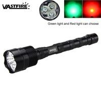 Taktische Taschenlampe 900 LM 3 x T6 Grün/Rot LED Licht Lampe Jagd Taschenlampe Tragbare Licht für Outdoor|LED-Taschenlampen|Licht & Beleuchtung -