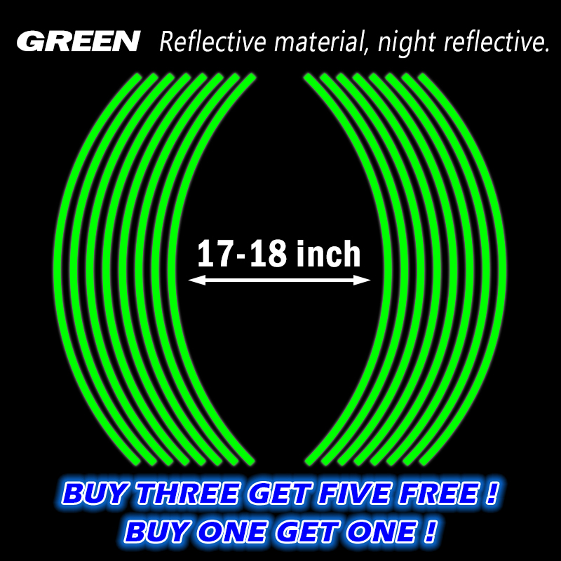 Buy One Get One Free! Motorcycle Styling Wheel Hub Rim Stripe Reflective Decal Stickers Safety Reflector For YAMAHA HONDA SUZUKI