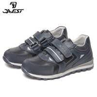 QWEST Marke Korrektur Leder Einlegesohlen Solide Frühling & Sommer Kinder Sport Schuhe Größe 28-33 Kinder Sneaker für Jungen 81P-XY-0798