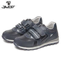 QWEST Brand Correction Leather Insoles Solid Spring& Summer Children Sport Shoes Size 28-33 Kids Sneaker for Boy 81P-XY-0798