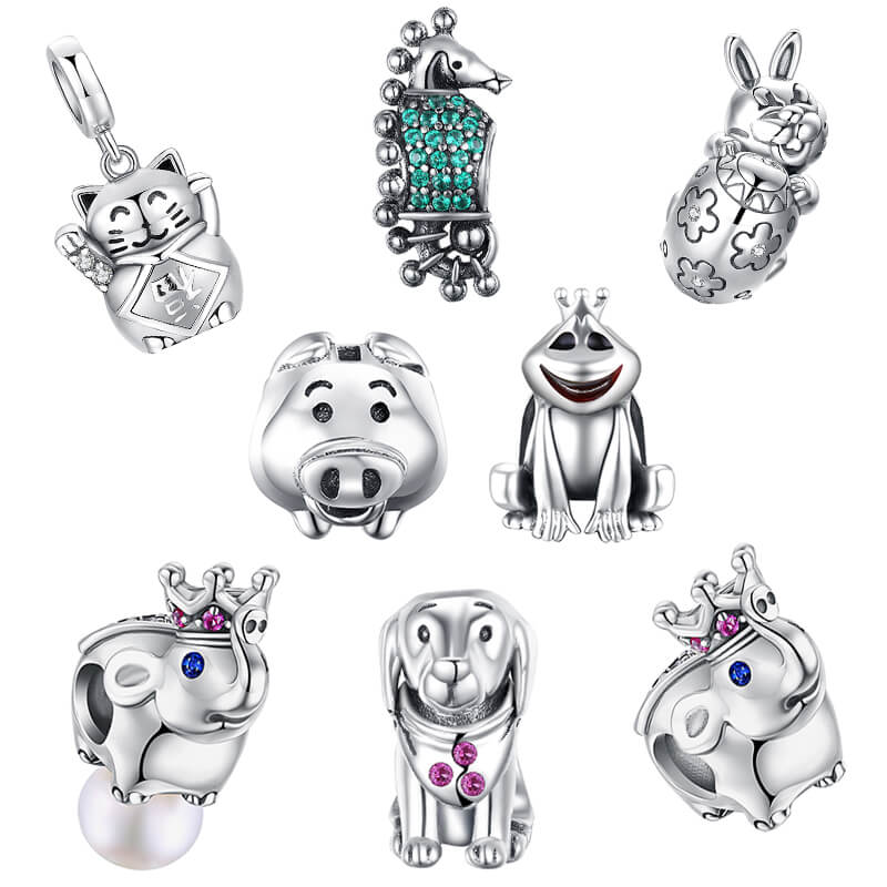 50x Teddy bear charms,cute charms for DIY,silver color.teddy charms