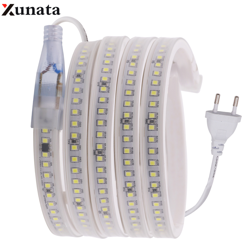AC220V LED Strip Light SMD 2835 Waterproof Flexible Rope LED Strip 144Leds/m Ribbon Tape Home Outdoor Decoration With EU Plug