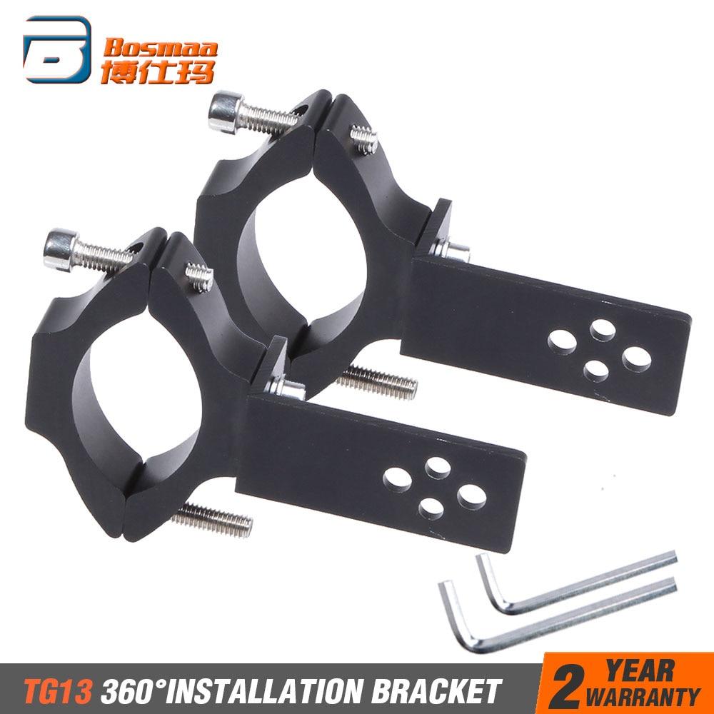 BOSMAA 2sets Universal Mount TG11/TG13 Motorcycle Headlight Bracket Tube Fork Spotlight Holder Clamp For Cafer Racer Chopper Ect