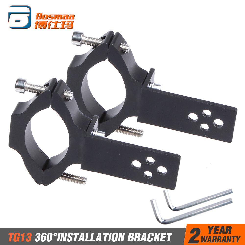 BOSMAA 2sets Universal Mount TG11/TG13 Motorcycle Headlight Bracket Tube Fork Spotlight Holder Clamp For Cafer Racer Chopper Ect|Headlight Bracket| |  - title=
