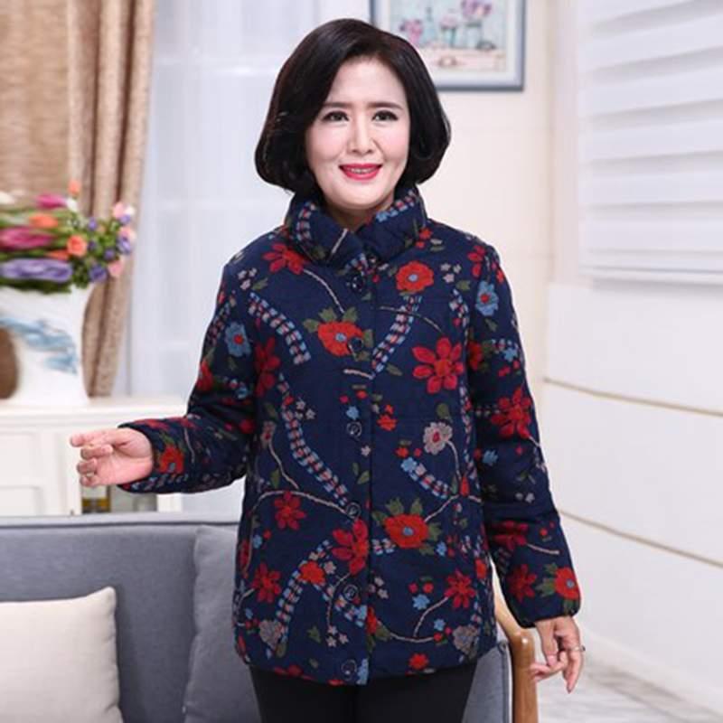 Hiver Veste Manteau Coton Épais Mince Femmes 2019 Col Blue red Moyen Grande Nouveau Mode Survêtement De Taille âge Parkas Chaud Pr393 Montant wnxwgI5rq