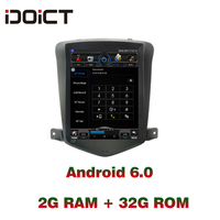 IDOICT TESLA Android 6.0 2G+32G Car DVD Player GPS Navigation Multimedia For Chevrolet Cruze Radio 2009 2012