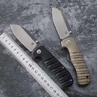 Versteinertes fisch klapp messer G10 griff kugellager tasche messer AUS-8 klinge taktik besteck camping selbstverteidigung werkzeuge EDC