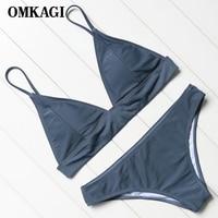 OMKAGI Brand Brazilian Bikini 2018 Swimsuit Women S Swimwear Swimming Bathing Suit Beachwear Sexy Push Up