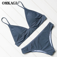 OMKAGI Brand Brazilian Bikini 2018 Swimsuit Women S Swimwear Swimming Bathing Suit Beachwear Sexy Push Up