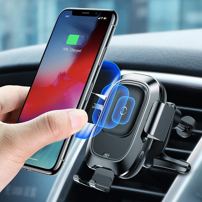 Prise d'air automatique montée sur téléphone portable sans fil de charge Navigation capteur infrarouge adapté pour 4-6.5 pouces support de style