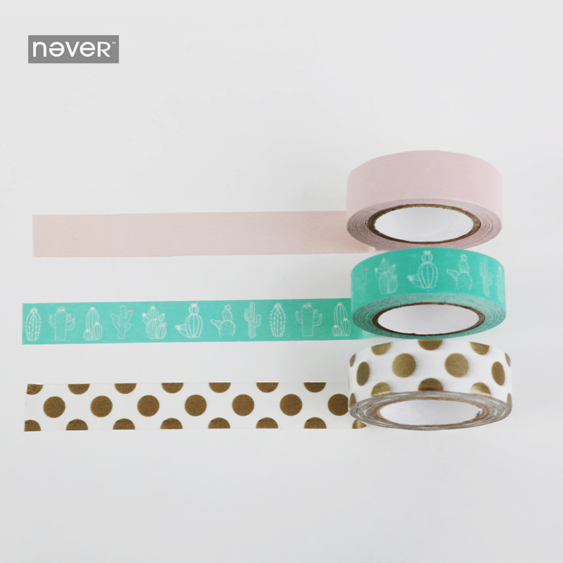 NEVER Cactus Series Stationery decorative sticker washi paper tape set Can be written Masking tape Notebook Planner Accessories