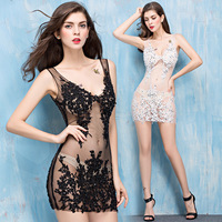 Summer Sexy Dress Runway Fashion Evening Party Lace Women Backless Bodycon Club Ladies Beach Bandage Wedding
