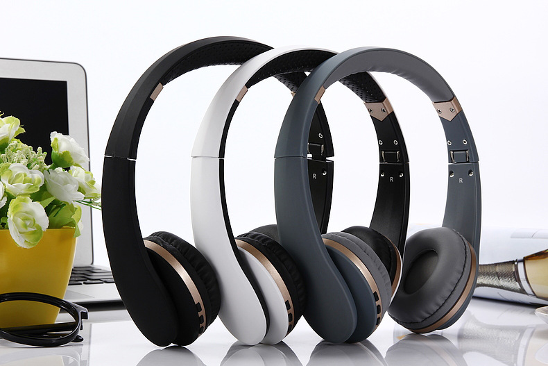 Metal gaming bluetooth headband BT023 for Sport music headset for Media music Bluetooth wireless wired headphone with microphone