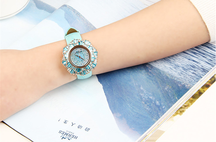 Exaggerated Designer MELISSA Floral Watches Luxury Full Crystals Women Wrist watch Japan Quartz Relogios Feminino Montre MP513A
