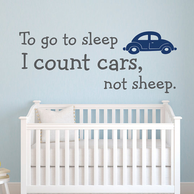 to go to sleep i count cars not sheep wall decal quote wall stickers