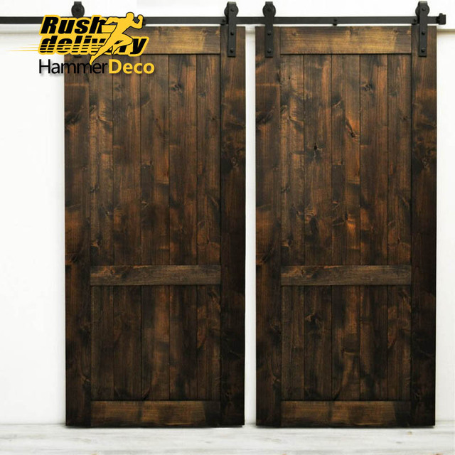 1500mm to 2500mm double sliding barn door hardware track for 1500mm to 2500mm double sliding barn door hardware track for selection interior sliding wooden door kit planetlyrics Images
