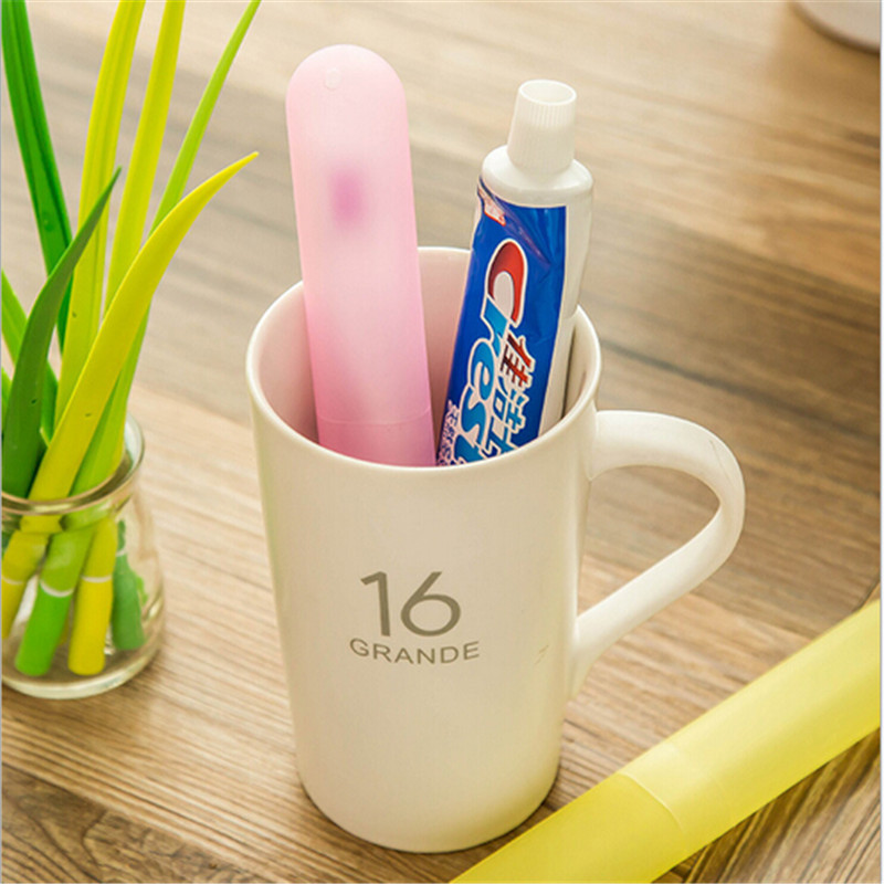 Bathroom:  Random Portable Travel Hiking Camping Toothbrush Protect Holder Case Box Tube Cover Bathroom Products - Martin's & Co