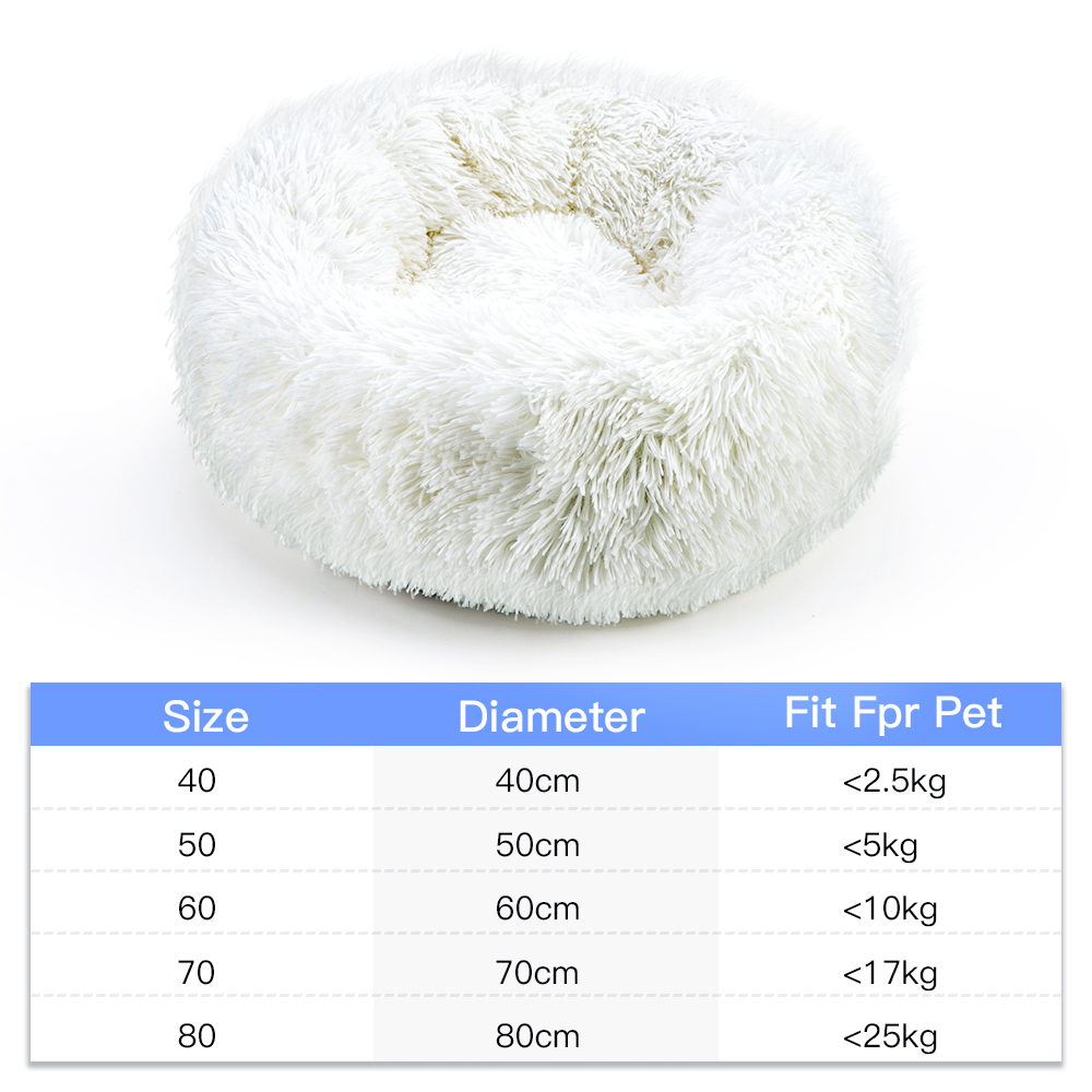 Dog Pet Bed Kennel Round Cat Bed Winter Warm Dog House Sleeping Bag Long Plush Super Soft Pet Bed Puppy Cushion Mat Cat Supplies 4