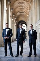 Two Buttons Notch Lapel Men Suits Navy Bule Custome Homme Groom Bestmen Formal Blazer Terno Slim