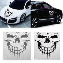 Big Size Punisher Skull Head Car Sticker Engine Hood Door Window Truck Car styling Reflective Decals