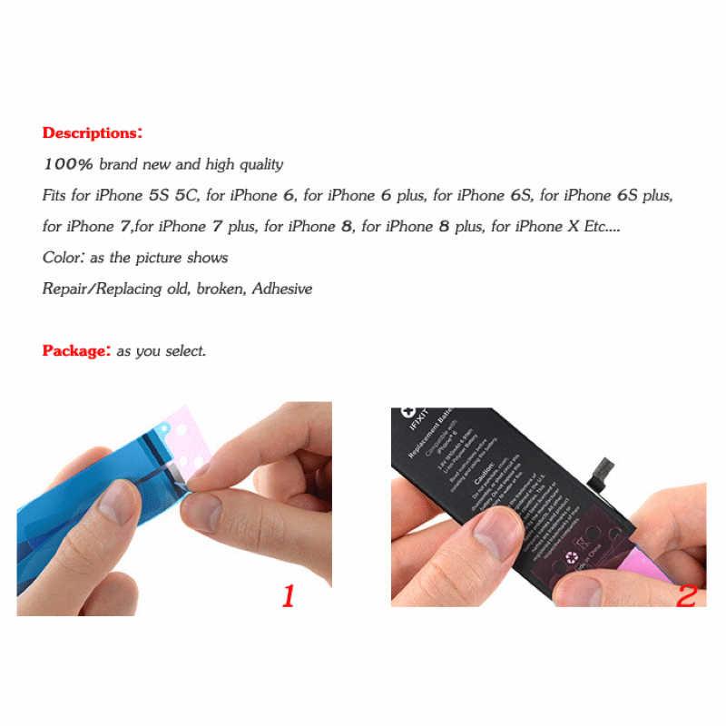 Groothandel Batterij Sticker Lijm Tape Dubbelzijdig Voor Iphone 7 8 Plus X 5S Se 6 6S Plus Telefoon Vervangen Strip Voor Samsung