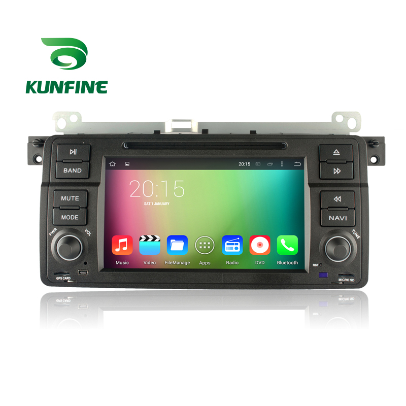 KUNFINE Android 7.1 Quad Core 2GB Car DVD GPS Navigation Player Car Stereo for BMW 3 Series E46 1998 to 2001 Radio Headunit